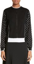 Stella McCartney Women's Polka Dot Sleeve Silk & Wool Sweater