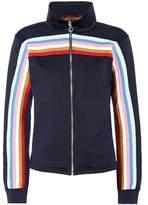 ALEXACHUNG Striped jersey track jacket
