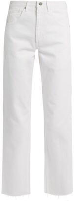 Raey Press Straight Leg Jeans - Womens - White