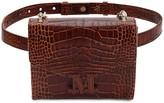 Max Mara Croc Embossed Leather Belt Bag