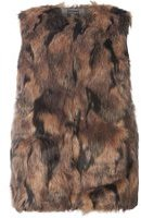 Dorothy Perkins Womens DP Curve Plus Size Marble Faux Fur Gilet- Black