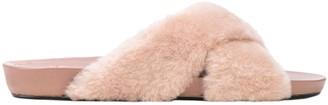 ATP ATELIER Doris Fur Sandal, Pink