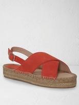 White Stuff Lake cross strap espadrille sandal