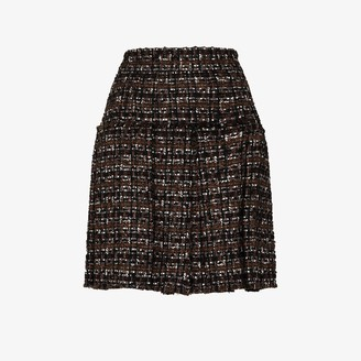 Dolce & Gabbana Pleated tweed skirt