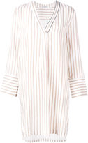 Brunello Cucinelli stripe shirt dress - women - Silk/Acetate - M