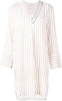 Brunello Cucinelli stripe shirt dress - women - Silk/Acetate - S