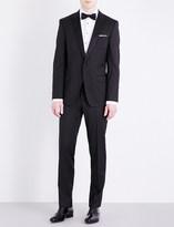 HUGO BOSS Silk-detail peak-lapel slim-fit wool suit