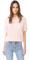 Anine Bing Short Sleeve Angora Sweater