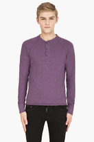 Rag and Bone RAG & BONE heather purple Henley