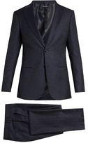 Giorgio Armani Soho Peak-lapel Single-breasted Wool-blend Suit