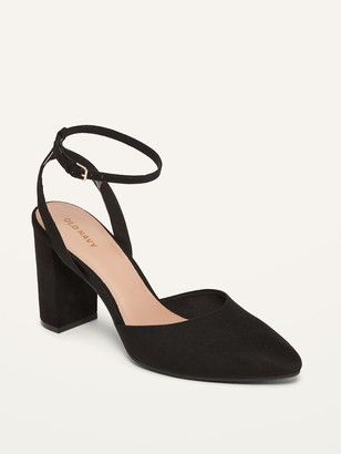 Old Navy Faux-Suede Ankle-Strap High-Heel Shoes for Women