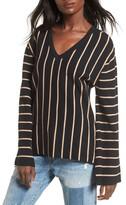 Moon River Women's Split Cuff Sweater