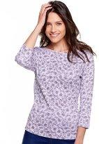 M&Co Floral print crew neck top