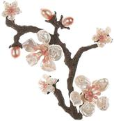 Michael Michaud for Silver Seasons Hand-Cast Bronze Cherry Blossoms Brooch