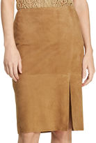 Lauren Ralph Lauren Suede Pencil Skirt