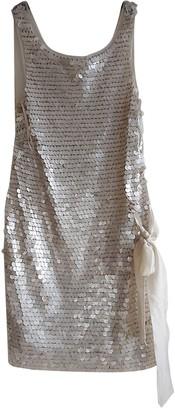 Philosophy di Alberta Ferretti Ecru Silk Dresses