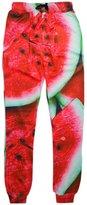 RAISEVERN Mens Rainbow Pointedness Print Graphic Hipster Stylish Jogging Pants