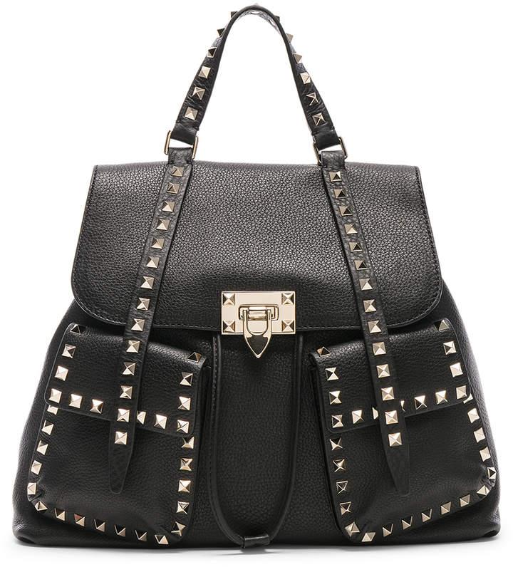 Valentino Rockstud Backpack in Black | FWRD