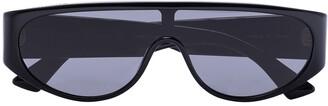 Bottega Veneta Mask Wraparound-Frame Sunglasses