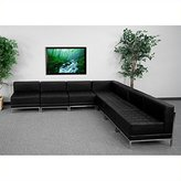 Flash Furniture ZB-IMAG-Sect-SET6-GG 7 Pieces Hercules Imagination Series Leather Sectional Configuration