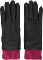 Ami Alexandre Mattiussi Black and Purple Rib Cuff Gloves
