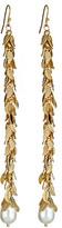 Ali NY Long Leaf Cluster Pearl Drop Earrings
