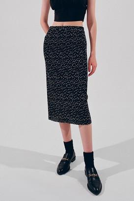 Dress Forum Ditsy Polka Dot Midi Slip Skirt