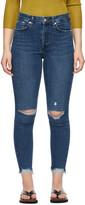 Thumbnail for your product : Rag & Bone Indigo Nina High-Rise Ankle Skinny Jeans