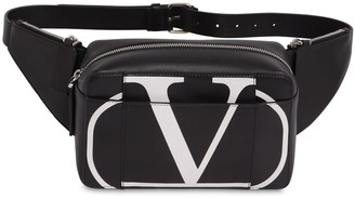 Valentino Vlogo Leather Belt Bag