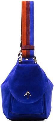 Atelier Manu blue Hobo Fernweh suede shoulder bag