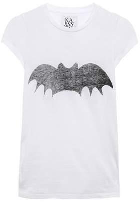 Zoe Karssen Bat Printed Cotton-jersey T-shirt
