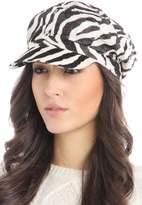 Violet Del Mar Zebra Newsboy Hat