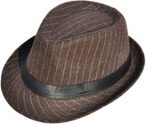 Simplicity Men Women Fashion Pinstripe Band Fedora Formal Hat
