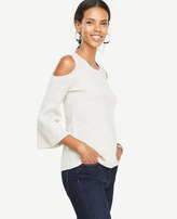 Ann Taylor Cashmere Cold Shoulder Sweater
