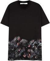 Givenchy Black Monkey-print Cotton T-shirt