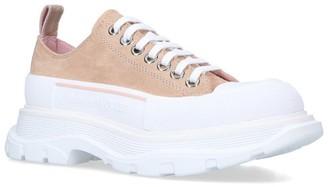 Alexander McQueen Suede Tread Slick Sneakers