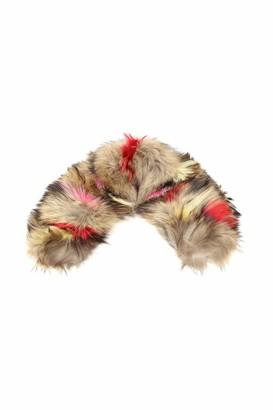 Mr & Mrs Italy Multicolor Raccoon Fur Collar