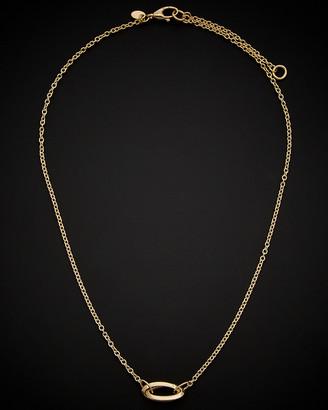Italian Gold 14K Interlocking Oval Adjustable Length Necklace