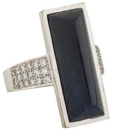 Ring 18K Diamond & Lapis Lazuli Cocktail