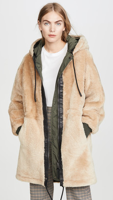 Coach 1941 Reversible Shearling Parka