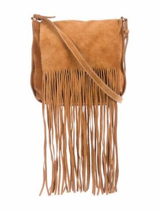 Miu Miu Fringe Crossbody Bag Brown