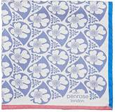 Penrose London PENROSE LONDON MEN'S REVERSIBLE SILK POCKET SQUARE
