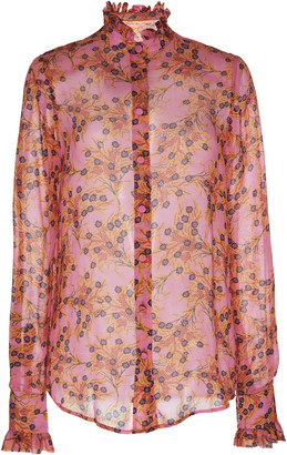 Alexis Indra Printed Georgette Blouse