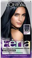 L'Oreal Feria Permanent Hair Color, M31 Midnight Moon (Cool Soft Black)