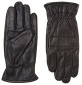 Fred Perry New Mens Black Perforated Leather Gloves