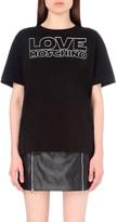 Love Moschino Logo-print cotton-jersey t-shirt