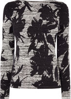 Karen Millen Floral Knit Top - Grey/multi
