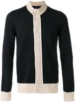 Alexander McQueen contrast knitted cardigan - men - Cotton/Wool - M