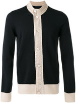 Alexander McQueen contrast knitted cardigan
