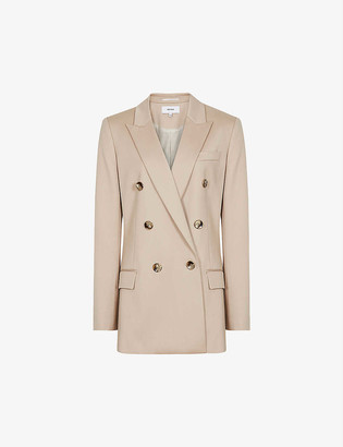 Reiss Austen double-breasted woven blazer